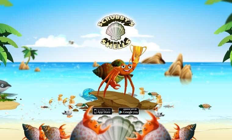 Avalde Digital Agency Sydney Brisbane Digital Agency kids game apps for iOS - Scrubby's Shells
